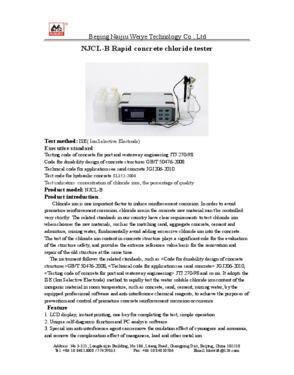 NJCL-L Rapid concrete chloride tester