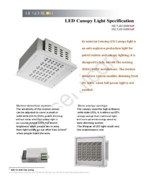 140W Sensing LED Canopy Light