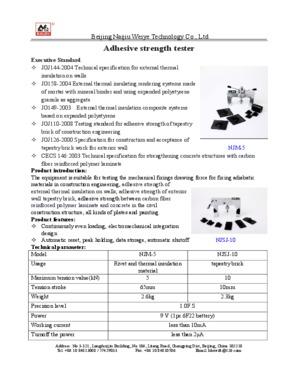 Carbon fiber adhesive strength tester