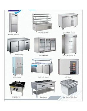 ICE CREAM MACHINE, ICE MACHINE, COFFEE MACHINE, COFFEE GRINDER, DISPLAY FRIDGE, ISLAND FREEZER, MEAT SAW, DOUGH MIXER, REFRIGERATOR, COLD ROOM, CONDENSER, ICE CREAM GELATO, MEAT DISPLAY FRIDGE, OVEN, FRYER,