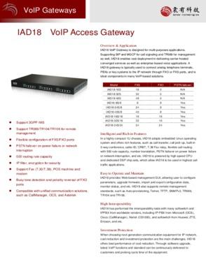 VOIP gateway IAD18