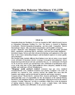 Guangzhou Bakestar Machinery CO., LTD