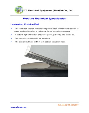 Lamination Steel Plates Lamination Cushion Pad