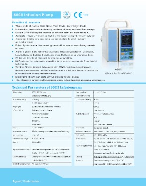 Hospital infusion pumps (CE approved)