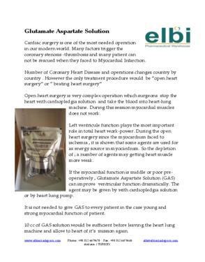 Glutamate Aspartate Solution