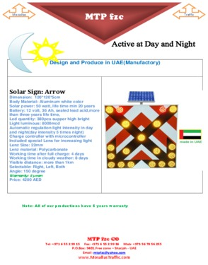 Solar Traffic Chevron