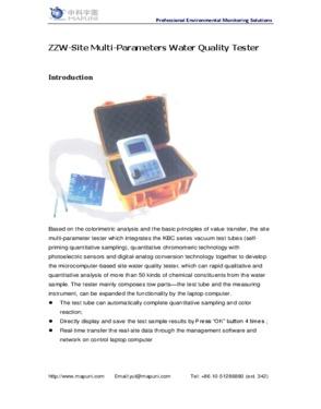 Portable Fast Display Test Results COD Analyzer