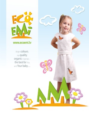 Organic cotton set for girl: overall shorts and T-shirt