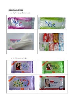 100 sheets baby wet wipes SUNRISE