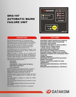 DKG 107 Automatic Mains Failure Unit