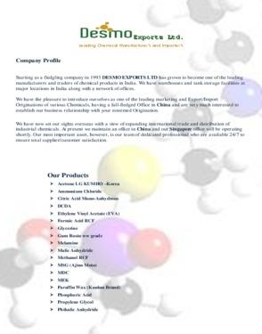 Desmo Exports Ltd.