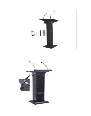 digital lectern, smart lectern with gooseneck microphone