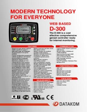D 300 Automatic Mains Failure Unit