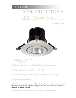 Dimmable LED Downlight(HZ-TDY10WI)