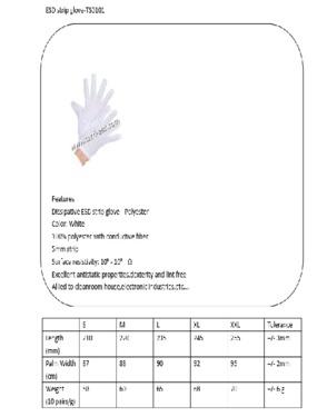 High quality ESD strip gloves