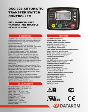 DKG 329 Automatic Transfer Switch