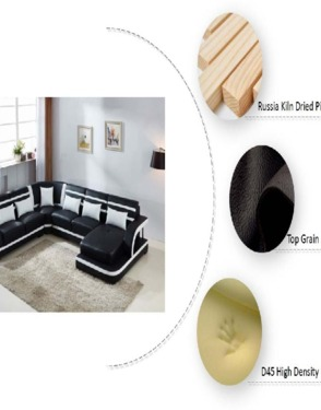Leather Sofa Set with Multimedia Speaker