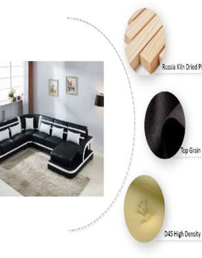 Leather Sofa Set with Multimedia Speaker