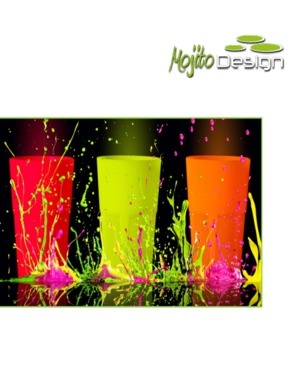 Mojito Design 35Cl PP  cocktail glass (available also fluo and glow in the dark)100% Made in Italy
