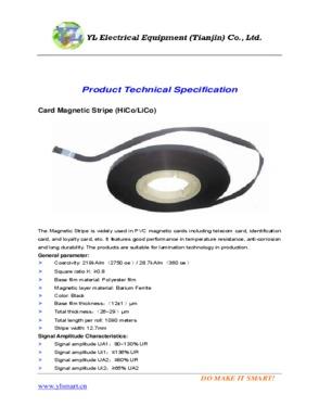 Card Magnetic Stripe (HiCo/LiCo)