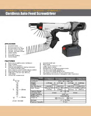 TD1855LIL2-1 Cordless Automatic Feed Screwdriver