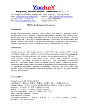 1502 Pressure Transmitter