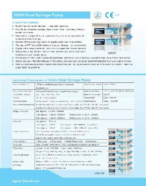 Syringe infusion pump 500III