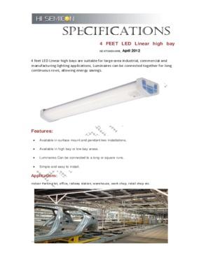 58W LED pendant linear light
