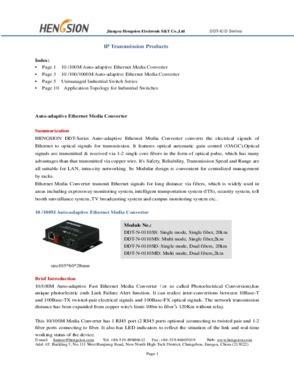 100M IP Ethernet Media Converter Via Fiber