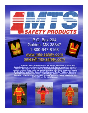 MTS Safety Products Inc