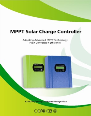 40A 48V MPPT solar charge controller RS232 LCD 11 languages