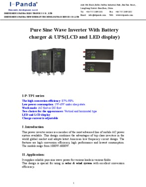 CE RoHS Power inverter 6000W 6KW peak power 18000w DC24V or DC48V to A