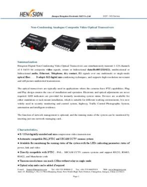 1-64 Ch video optic transceiver over fiber