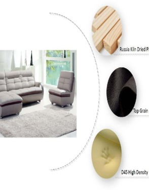Living Room Leather Sectional Sofa Factory From China