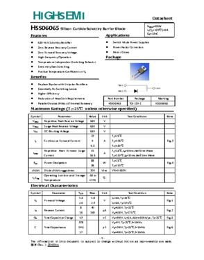 Silicon Carbide Schottky Barrier Diode