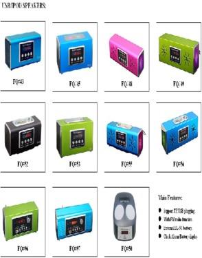FQ Portable Mini USB, TF, Radio Speaker