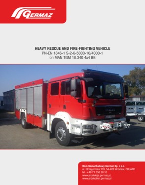 Heavy rescue and fire-fighting vehicle