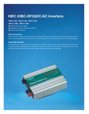 HBC (HBC-DFG)DC/AC Inverters by Hongbao
