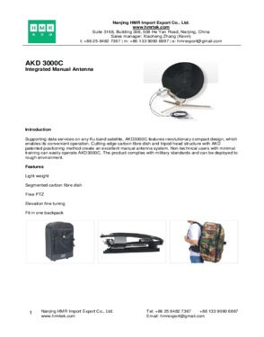 AKD 3000C Integrated Manual Antenna