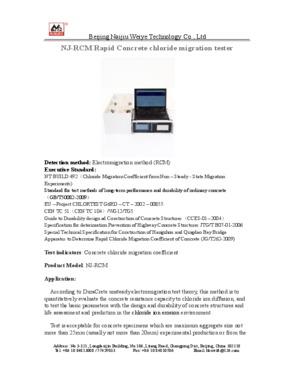 NJ-RCM Rapid Concrete chloride migration tester