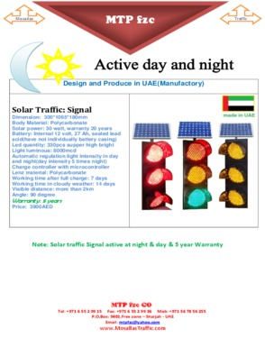 solar traffic signal three color