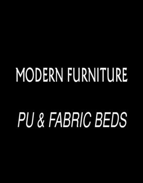 NYF608 # modern platform fabric bed with storage chest