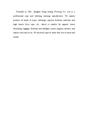 QINGDAO HONGGUANG WEAVING CO.,LTD
