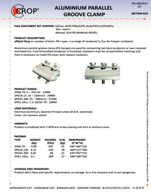 Aluminium Parallel Groove Clamp PG571 B