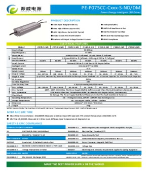 75W LED Driver/applied to LED Street light, LED tunnel light