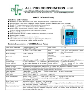 Ambulatory infusion pumps (CE approved)