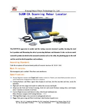DJGW-2A Scanning Rebar Locator