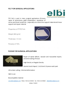 FELT FOR SURGICAL APPLICATIONS