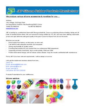 J&F Silicone Rubber Products Manufacturer