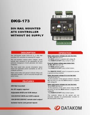 DKG 173 Din Rail Mounted ATS Controller